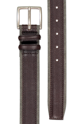 CANVAS TRIM BELT MILITARY GREEN