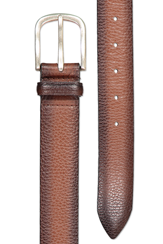 Main image of Orciani Micron Deep Leather Belt Sigaro