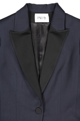 Front collar and lapel detail image of Pallas Chypre Tuxedo Jacket