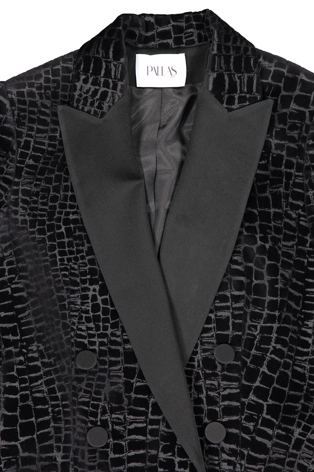 Front collar and lapel detail image of Pallas Falbala Jacket