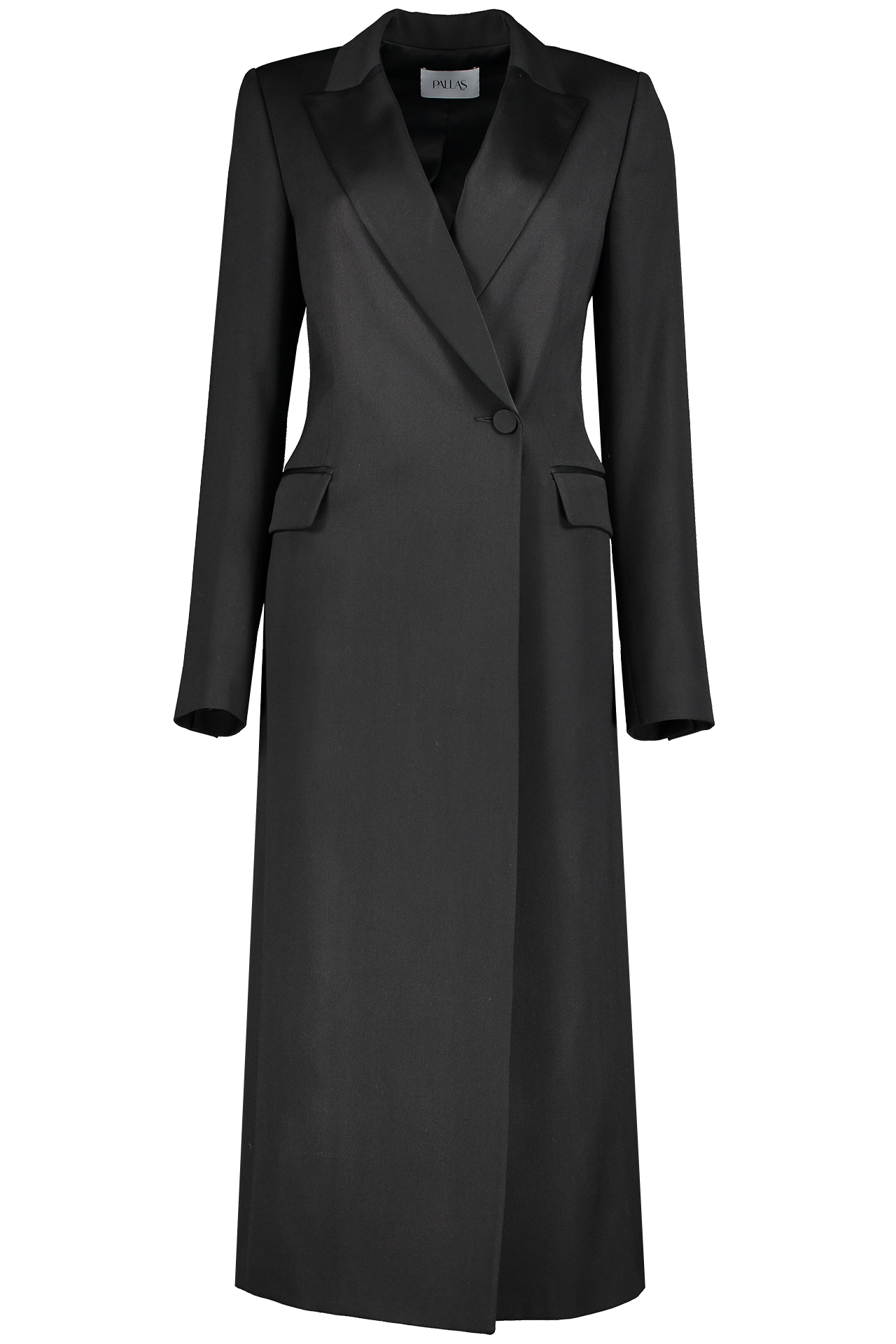 Front view image of Pallas Shadow Tuxedo Coat