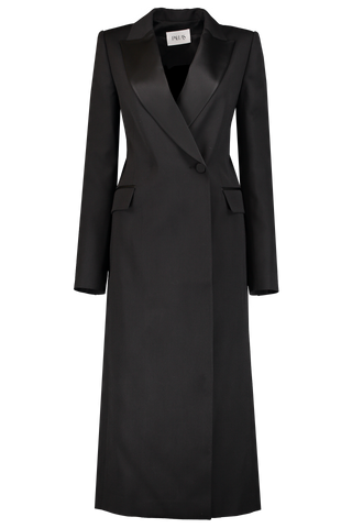 Shadow Tuxedo Coat Black