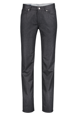 Front view of Peter Millar Men's Alpine Flannel 5-Pocket Trouser Grey