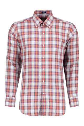 Front image of Casse Plaid Woven Sport Shirt