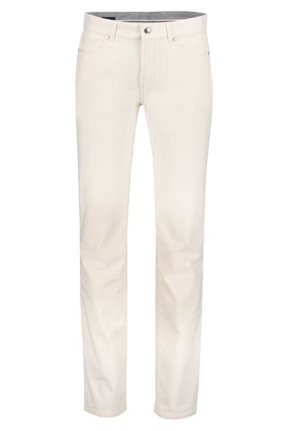 Front view image of Peter Millar Men's Chalet Corduroy 5-Pocket Trouser Crema