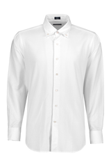Front view of Peter Millar Men's Collection Oxford Woven White