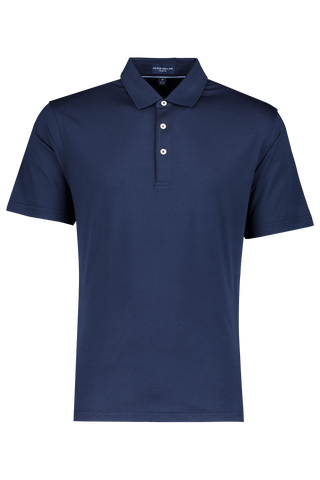 Front view image of Peter Millar Excursionist Flex SS Polo Starlight Blue
