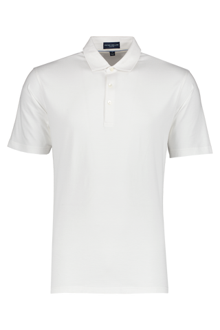 Front view image of Peter Millar Excursionist Flex SS Polo White