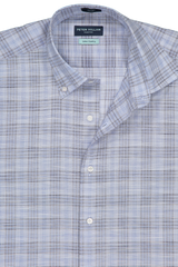 Collar detail image of Peter Millar Jozi Plaid Sport Shirt