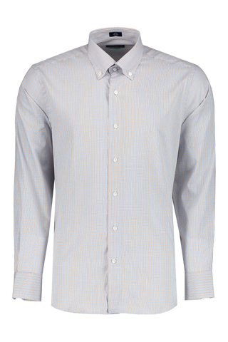 Front view image of Peter Millar Musee Micro Check Shirt Menthe