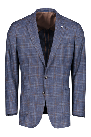 Front view image of Peter Millar Patron Plaid Soft Jacket