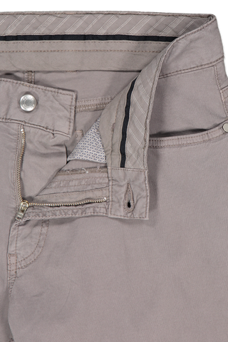 Waist and zipper detail image of Wayfare Knit Five-Pocket Trouser Nickel