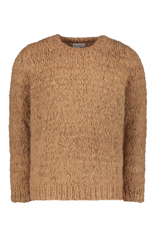 Hand Knitted Alpaca Crewneck Sweater