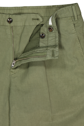 Flat Front Shorts Military