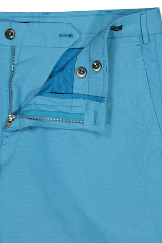 Zipper Detail Image of PTO1 Modern Fit Flat Front Short Blue