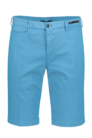 Front Image of PTO1 Modern Fit Flat Front Short Blue