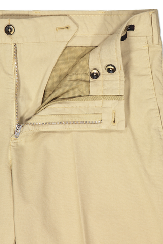 Zipper Detail Image of PTO1 Modern Fit Flat Front Short Khaki