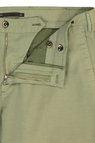 Zip Detail Image of PTO1 Modern Fit Flat Front Short Mint