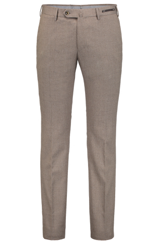 SLIM FIT FLANNEL TROUSER TAN