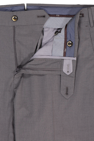Zipper Detail Image of PTO1 Slim Fit Flat Front Trouser