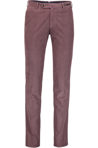 SLIM FIT TROUSER CORD MAUVE
