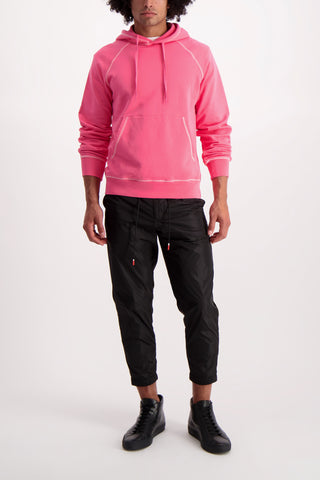 Full Body Image Of Model Wearing PT Forward Drawstring Jogger Diagonal Pockets Black