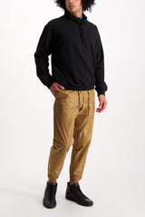Full Body Image Of Model Wearing PT Forward Drawstring Jogger Diagonal Pockets Khaki