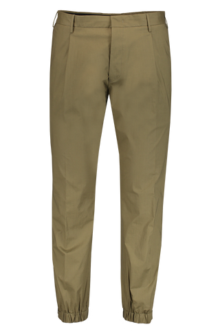 Front Image of PT Forward Pleated Chino In Army Green