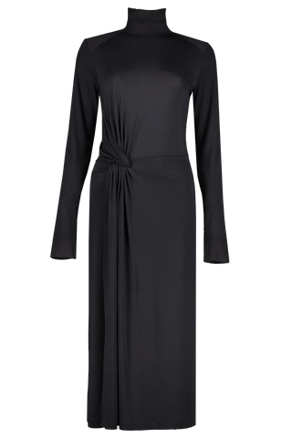 Front Image Of Rag & Bone Women's Draped Wool Shaw Midi Dress