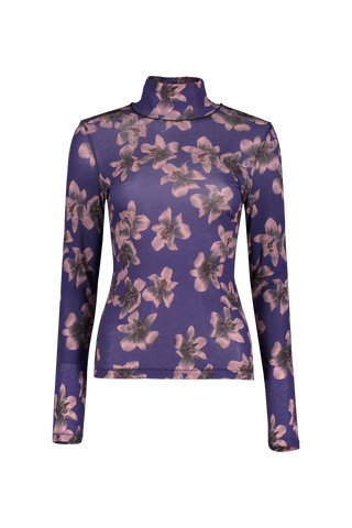 Women's Long Sleeve Printed Shaw T-Neck