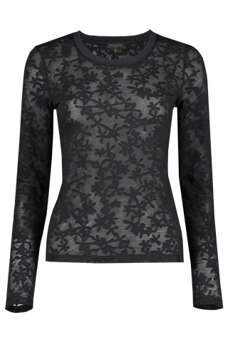 Front view image of Rag & Bone Women's Long Sleeve Valencia Shirt