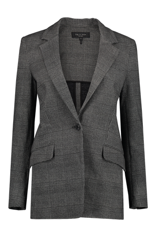 Women's Ames Plaid Blazer Grey Plaid