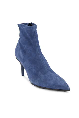 Front angled view image of Rag & Bone Women's Beha Stretch Boot Royal Blue