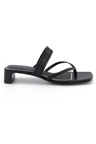 Side view image of Rag & Bone Women's Cold Mid Sandal Black