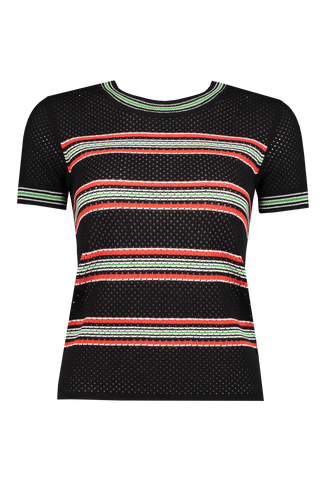 Front view image of Rag & Bone Darcie Short Sleeve Black