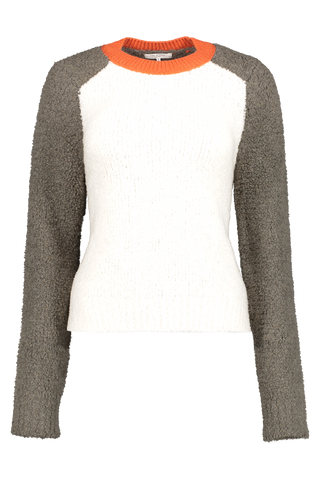 Front view image of Rag & Bone Women's Davis Crewneck Sweater Army