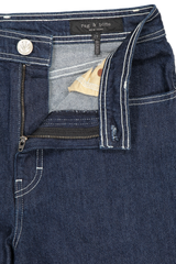 Zipper Detail Image Of Rag & Bone Derby Jean Rinse Wash