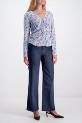 Full Body Image Of Model Wearing Rag & Bone Derby Jean Rinse Wash