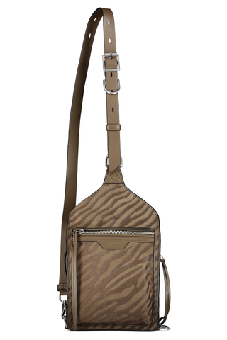Front view image of Rag & Bone Women's Ellliot Sling Pack Taupe