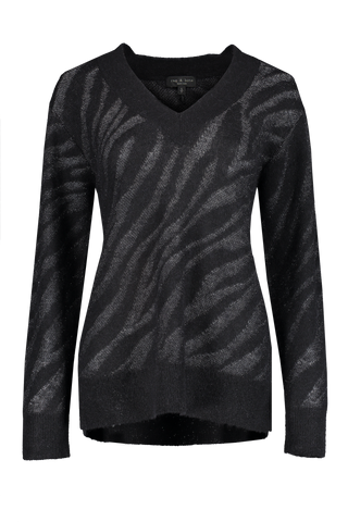 Front view image of Rag & Bone Women's German V-Neck Sweater