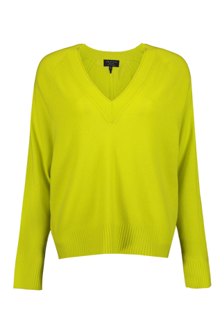 Women's Gio Cashmere V-Neck Lime