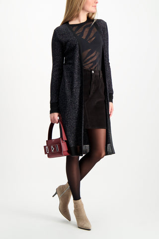 Full Body Image Of Model Wearing Rag & Bone Women's Hayden Skirt Black