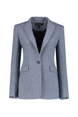 Front view image of Rag & Bone Women's Hazel Herringbone Blazer