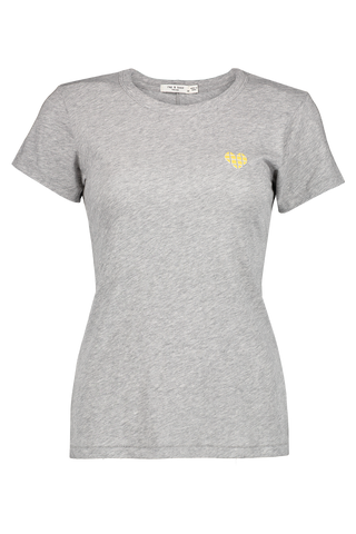 Front image of Rag & Bone Heart Tee Heather Grey