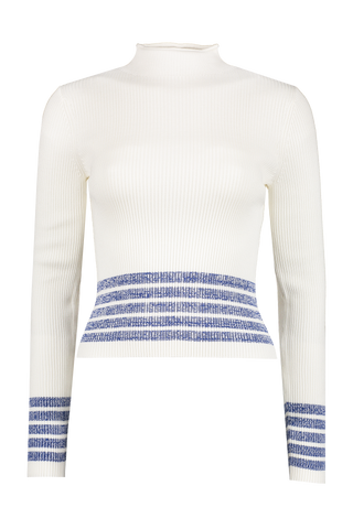 Jamie Mock Neck Chalk