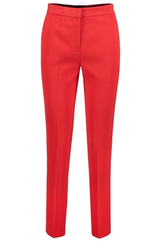 Front view image of Rag & Bone Layla Crepe Pant True Red