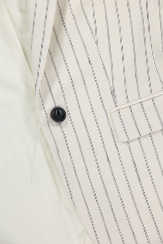 Lexington Stripe Blazer Black White Pinstripe