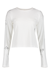 Front view image of Rag & Bone Women's Long Sleeve Tattoo Embroidered Shirt