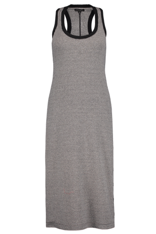 Full Length Front Image Mari Houndstooth Tank Dress
