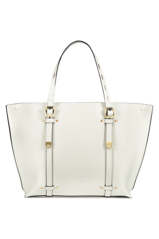 Front view image of Rag & Bone Women's Mini Field Tote White